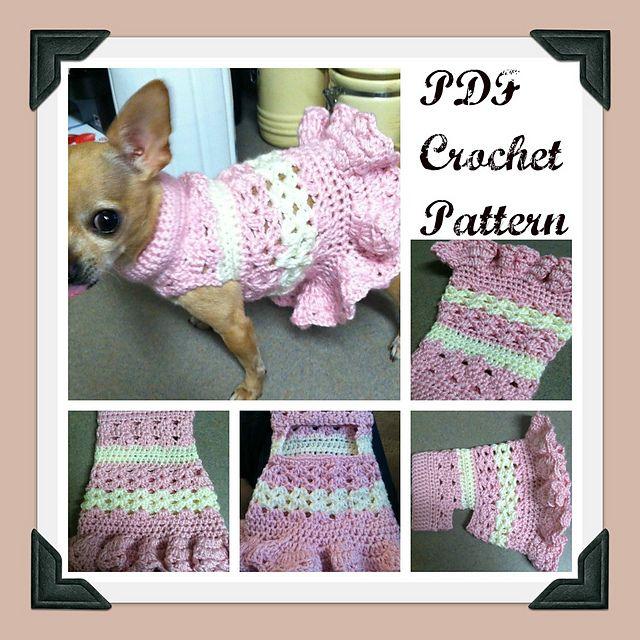 Ravelry: Littlest Bo Peep Crochet Dog Sweater pattern by Cobos Closet