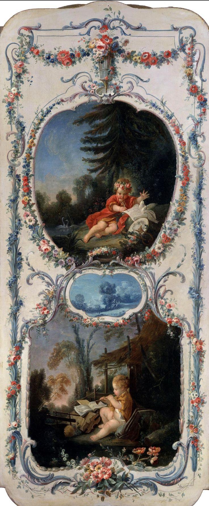 FRANCOIS BOUCHER. Аллегория Поэзии и Музыки (1750-1752)