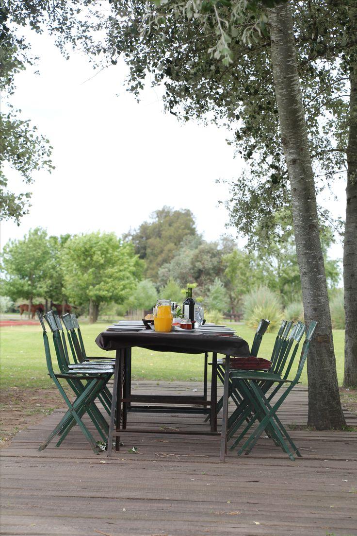 The perfect landscape for a meal  #argentinapoloday  #lacarona #estancia #decoration #landscape