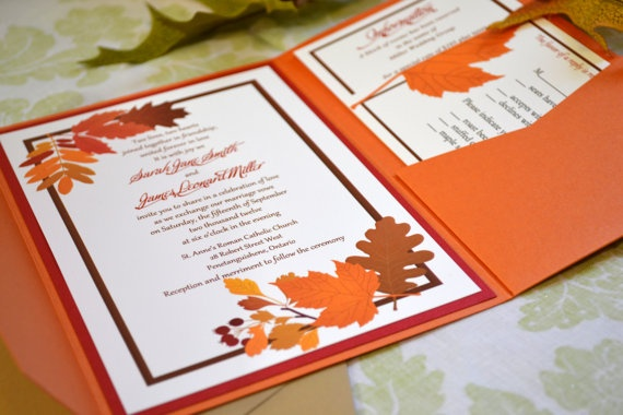 Homemade Fall Wedding Invitations: 1000+ Images About Fall Wedding Ideas On Pinterest