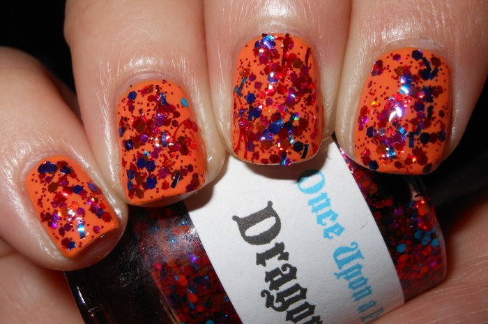 Imperfectly Painted: Once Upon a Polish Dragon Spit over Zoya Arizona