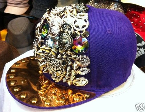 TOKYO RAVER SELECT Studded Bling Jewelry Purple New Era Style Cap