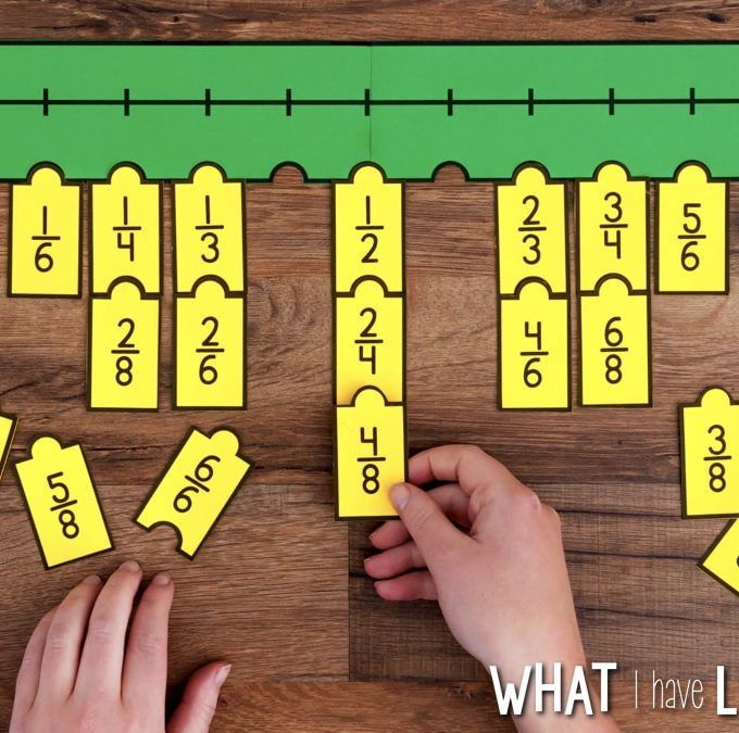 Fraction Number Puzzles Number Line Numbers