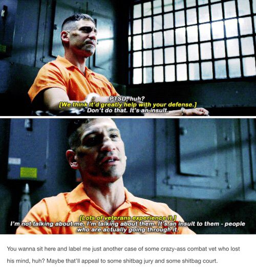 I love this because he's so right and good for the Daredevil writers to point it out.