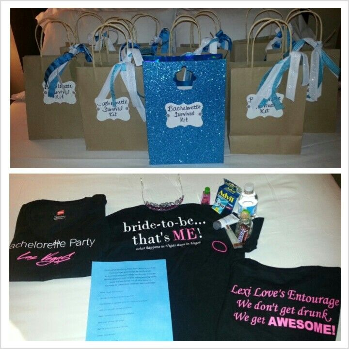 las Vegas Bachelorette Party survival kits