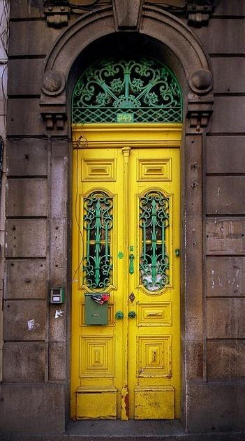 Door in Oporto city