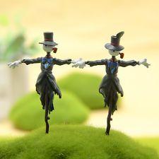 2PCS Studio Ghibli Howl's Moving Castle Kabu Scarecrow Figure Garden Decor Craft