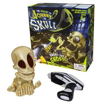 Keep your head on a swivel and shoot down the ghosts with the laser shooter. So much fun!