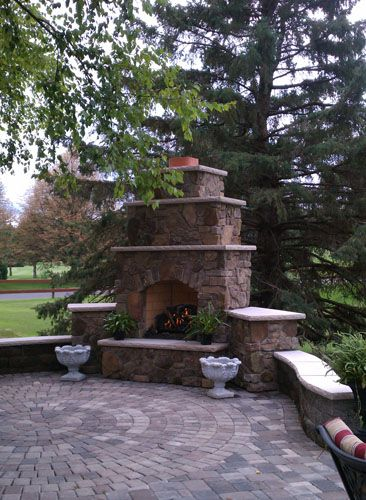 62 Best Outdoor Fireplace Patio Images On Pinterest