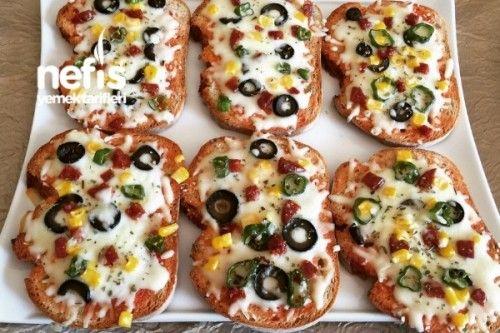 Kahvaltılık Ekmek Pizzası Tarifi