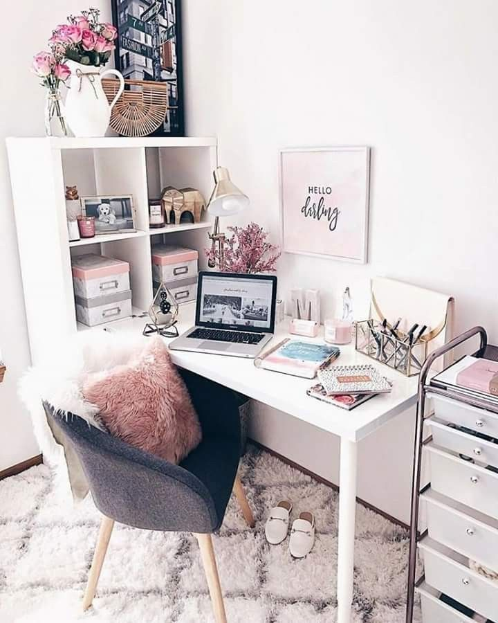Pin By Kat O Brien On Home Office Cute Desk Decor Room Decor Home Office Design