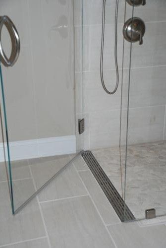 shower pan? Curbless shower with a linear drain at the door ~ http://walkinshowers.org/best-shower-drain-reviews.html