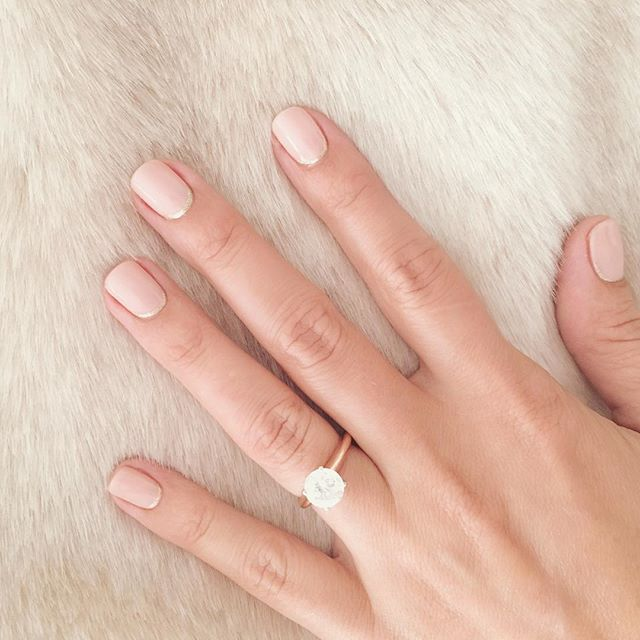 I am pretty excited about my reverse French manicure from @oliveandjune ! And what's even more exciting is that they will be at the @lclaurenconrad pop up with me this week so guys can stop by for some !!!                                                                                                                                                                                 More