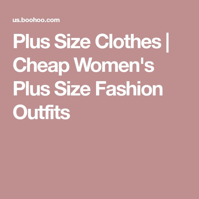 Plus Size Clothes | Cheap Women's Plus Size Fashion Outfits