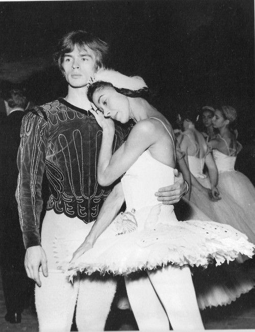 "Nureyev and Fonteyn -- Swan Lake, Paris, 1963. In Vienna, in October 1964, Margot Fonteyn and Rudolf Nureyev received 89 curtain calls at the end of ""Swan Lake"" - a record for curtain calls which remains unequalled to this day, and which is still in the Guinness Book of World Records!"