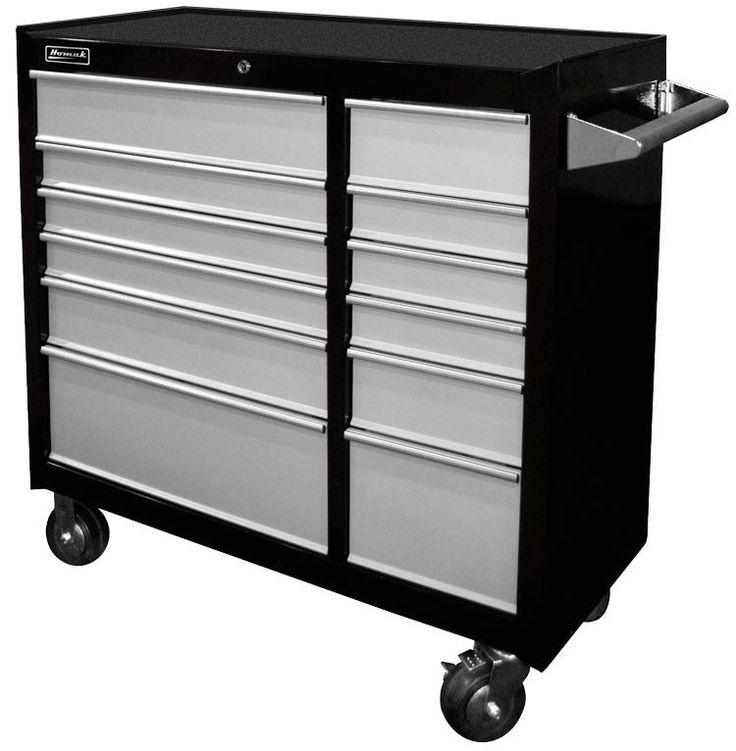 "Homak SE Series 12 Drawer Rolling Tool Box 41"" - BG04041123"