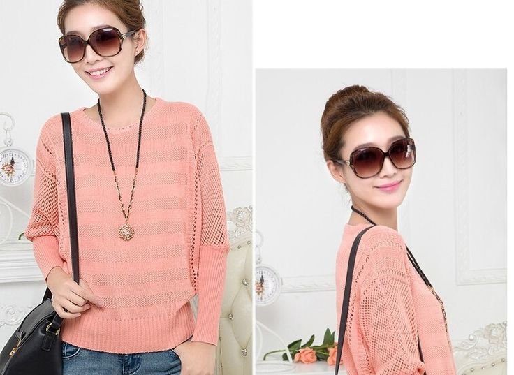 2014 hot sale autumn new arrival womens knitted pullover batwing shirt Hollow out long sleeve o neck sweater female sweaters. Discover and shop the latest things you love on www.zkkoo.com