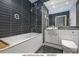 black tiles on wall and floor