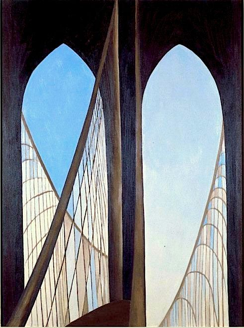 The Brooklyn Bridge, Georgia O'Keefe (1949) - Love her rendition of this stunning icon of New York