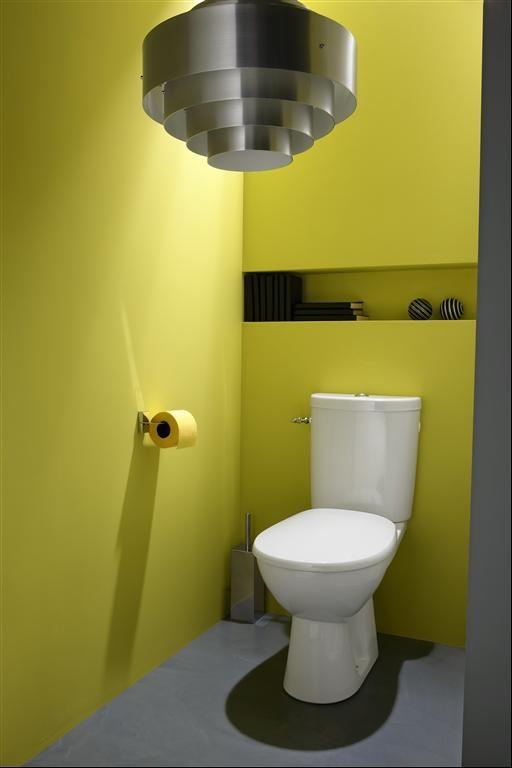 WC avec une niche de rangement