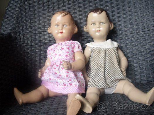 Starožitné panenky,  40 cm, REZERVACE - 1