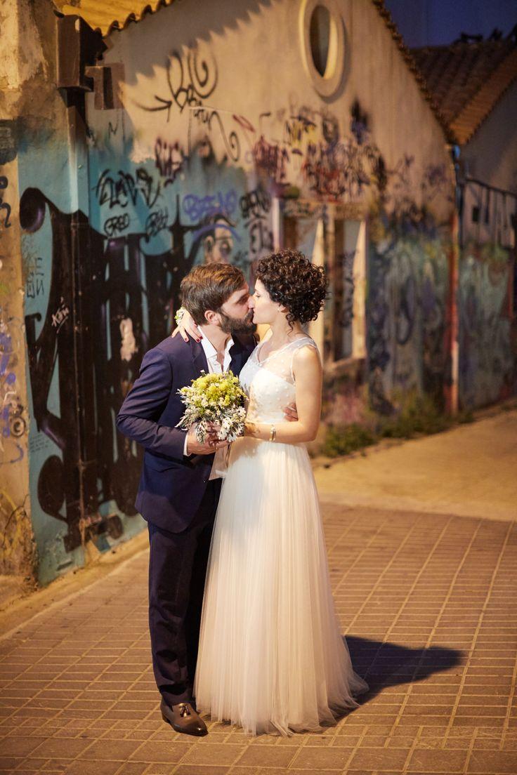 after wedding photo shooting, patras, palaia poli, sotiris tsakanikas, minimal bridal dress, navy suit, lovely couple
