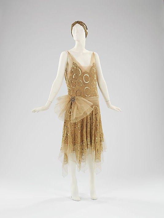 evening dress, House of Lanvin, 1923, MET