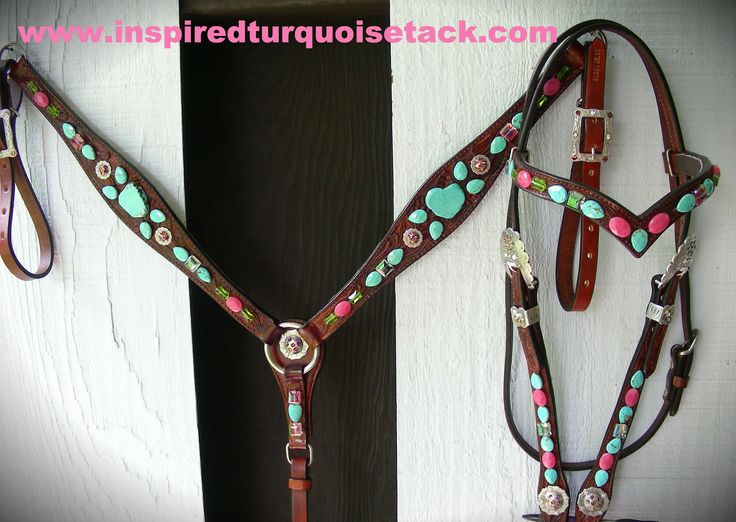 This tack set was made for Heather Smith of Heather Smith's Barrel Racing Tips, she's a PRCA barrel racer and author.  I am her tack sponsor and this is her 2015 tack set!