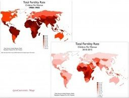Total Fertility Rates, 1950 and 2015