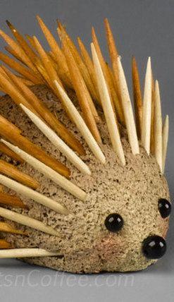 Hedge hog Toothpick Craft For kids /craftsncoffee