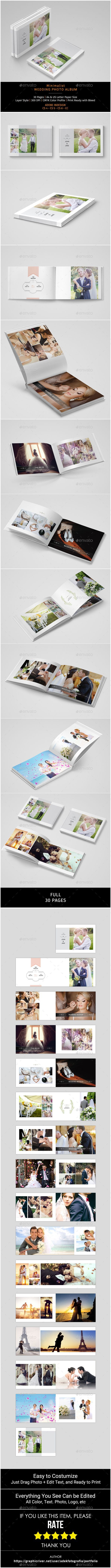 Wedding Album Template A great fresh template made to fit any purpose, and it¡¯s absolutely great photo album. You can easily edit #WeddingAlbums