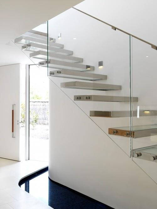 floating with glass railings