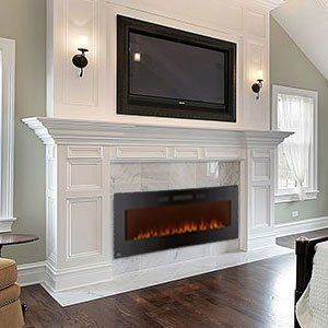 Napoleon Azure 60 In Linear Black Wall Mount Electric Fireplace