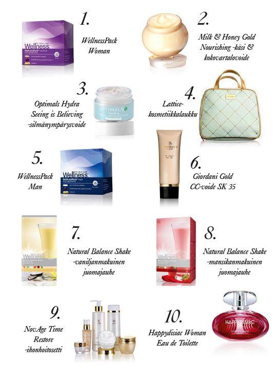 Myydyimmät tuotteet TOP 10 | Oriflame Cosmetics