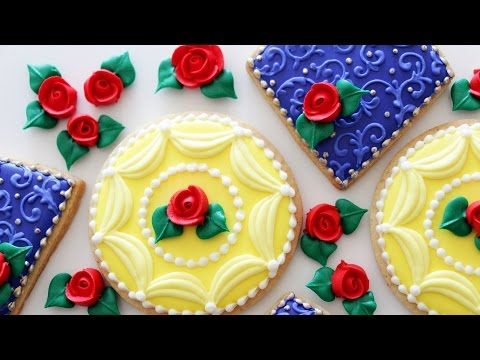 (10) Beauty and the Beast Inspired Cookies! - YouTube