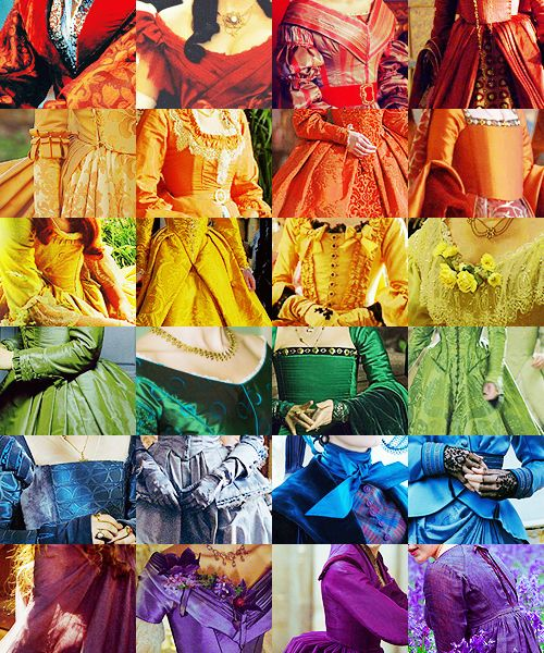 COSTUME DRAMA CLOTHES!!!Rainbows Dresses, Periodic Dramas, Colorth Beautiful, Rainbows Colors, Costumes Dramas, Makeup Samples, Rainbows Costumes, Rainbows Clothing, Costumes Ideas