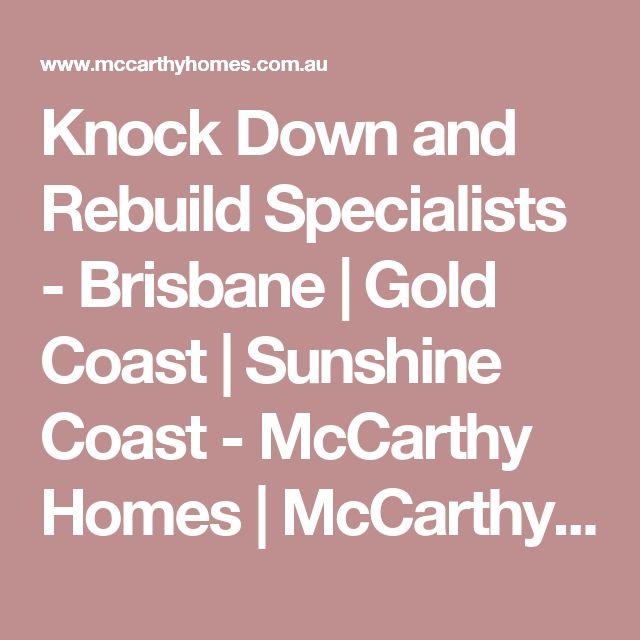 Knock Down and Rebuild Specialists - Brisbane | Gold Coast | Sunshine Coast - McCarthy Homes | McCarthy Homes