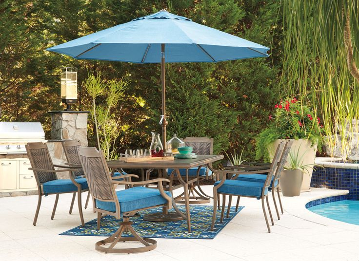 We have a selection of gorgeous Outdoor by Ashley furniture on display in our showroom now so come by and check it out. Enjoy the outdoors this Spring and Summer in comfort and style with Outdoor by Ashley seating, dining rooms, umbrellas and fire pits! #outdoors #outdoorfurniture #comfort #style #beautiful #dining #furnituretocomehometo #RegalHouse
