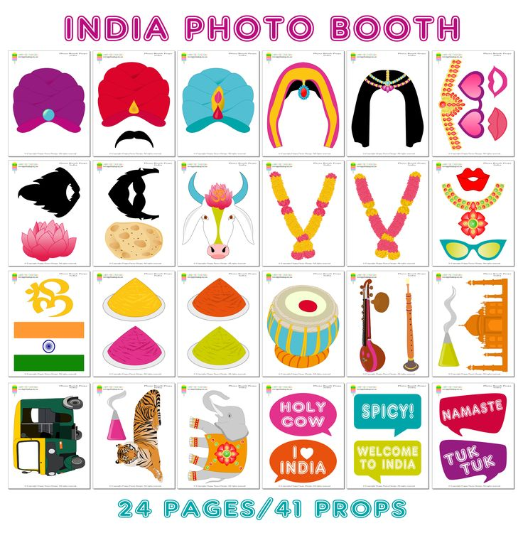 PRINTABLE India Photo Booth Props–Bollywood Props-India Party Props-Indian Wedding Props-Bollywood Party Props-Travel Props-Instant Download