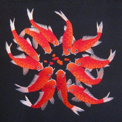 Chinese New Year decor idea - chinese carp wall art #cny