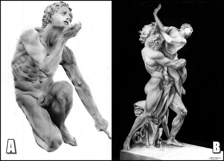 To jest bitwa o to który rysunek jest lepszy. #pencil #sculpture #ołówek #domin #naukarysunku
