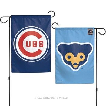 Chicago Cubs Cooperstown 2 Sided Garden Flag