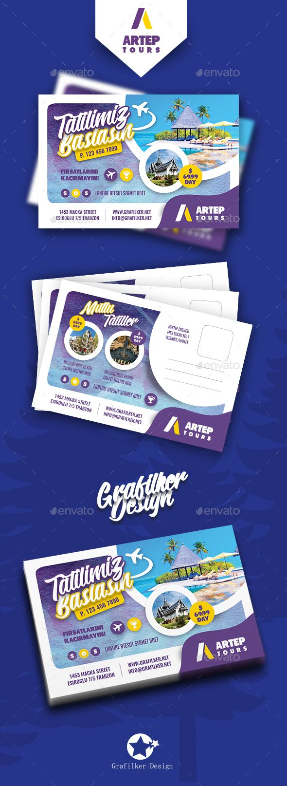 Travel Tour Postcard Templates — Photoshop PSD #app #ad • Download ➝ https://graphicriver.net/item/travel-tour-postcard-templates/19718764?ref=pxcr