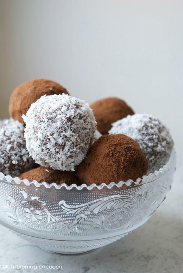 tartufi pan di stelle nutella cocco