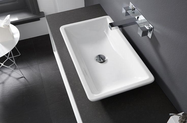 Design badkamermeubel met opbouwkommen van Thebalux