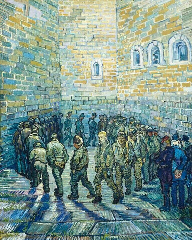 Prisoners exercising by Van Gogh