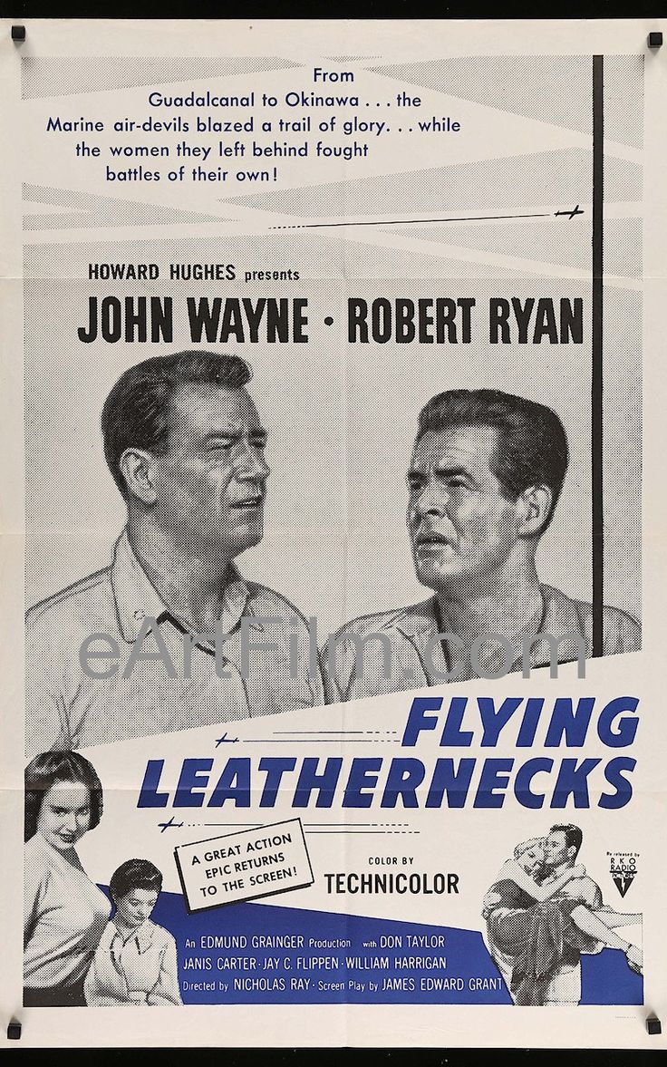 Happy Birthday #RobertRyan https://eartfilm.com/search?q=%22robert+ryan%22 #actors #ClashByNight #FlyingLeathernecks #OddsAgainstTomorrow #movie #movies #poster #posters #film #cinema #movieposter #movieposters    Flying Leathernecks-R60s-Howard Hughes-John Wayne-Robert Ryan-27x41