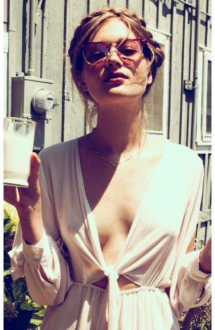 Peekabooda Vintage Red Frame Sunglasses
