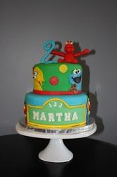 Sesame Street Birthday Cake with Elmo!