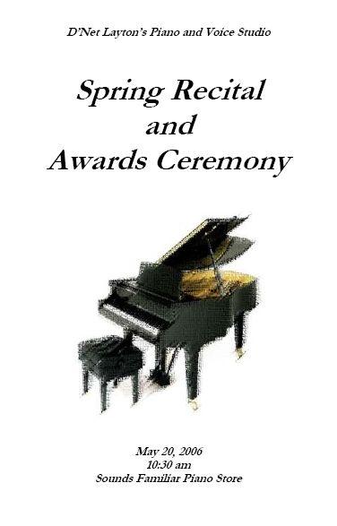 15 best recital programs images on Pinterest